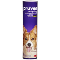 Pruven 836P-LSRF-50 8-Inch by 26.2-Feet Pet Hair Large Surface Roller Refill, 50-Sheet