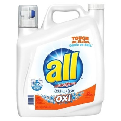 All Free & Clear Oxi-Active HEC Liquid Laundry Detergent 172 oz