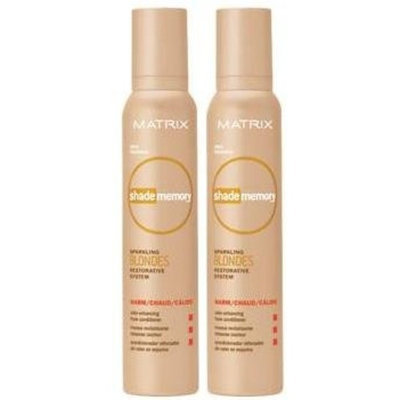 Matrix Shade Memory Sparkling Blondes Restorative System - Color Enhancing Foam Conditioner- Warm (6.9 O.Z.Each) (Qty, of 2)