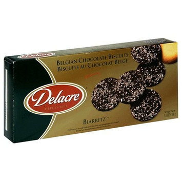 Delacre Biarritz, Belgian Chocolate Biscuits, 3.5-Ounce Boxes (Pack of 12)
