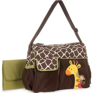 Baby Boom Giraffe Applique Duffle Diaper Bag
