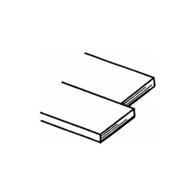 Brass Strips 12, .032 X 1/2, Carded
