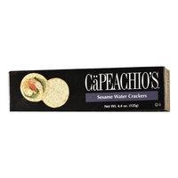 Ca Peachio's Capeachio's Sesame Water Cracker, 4.4-Ounce Boxes (Pack of 12)
