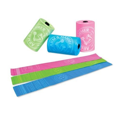 Bamboo Arm & Hammer Disposable Pet Waste Bags Refills, Colors Vary