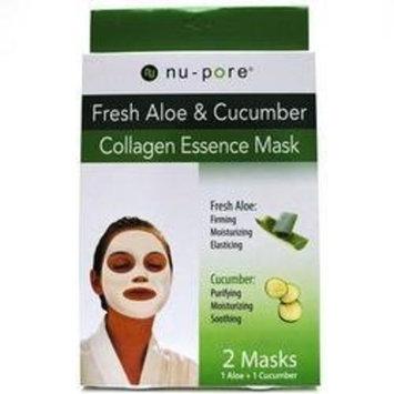 Nupore nu-pore Fresh Aloe & Cucumber Collagen Essence Mask 2 masks 1 Aloe And 1 Cucumber