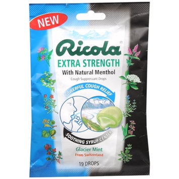 Ricola Cough Suppressant Drops, Glacier Mint, Glacier Mint, 19 ea