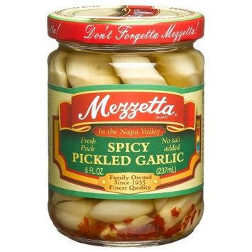 Mezzetta Pickled Spicy Garlic (Pack of 6)