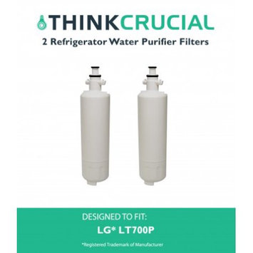 Crucial Air 2 LG LT700P (RFC1200A) Refrigerator Water Purifier Filters Fit LG ADQ36006101 & ADQ36006101-S