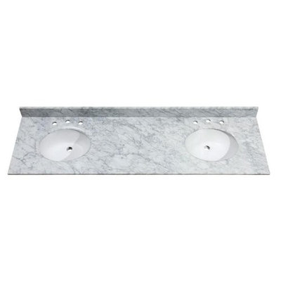 Avanity SUT73CW 73-Inch Carrera White Marble Stone Top
