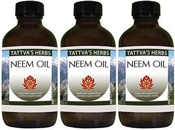 Neem Oil 100% Pure Tattva's Herbs LLC. 2 oz Oil