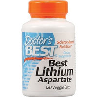 Lithium Aspartate 5mg by Doctor's Best - 120 Vegetarian Capsules
