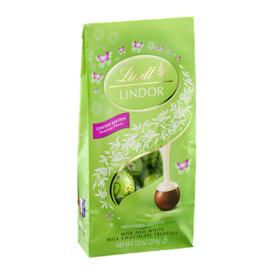 Lindt Lindor Milk and White Milk Chocolate Truffles