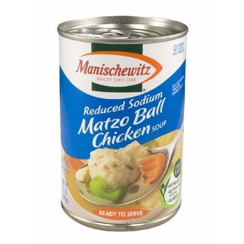 Manischewitz All Natural Reduced Sodium Matzo Ball Chicken Soup, 14 Ounce -- 12 per case.