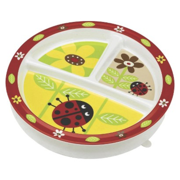SugarBooger Divided Suction Plate - Ladybug