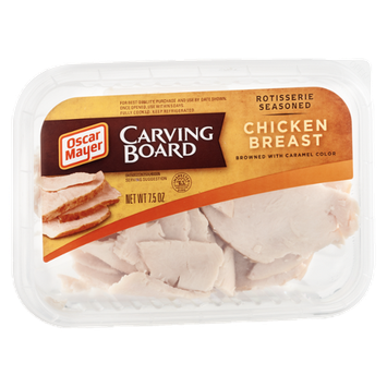Oscar Mayer Carving Board Chicken Breast Rotisserie Seasoned Browned with Caramel Color