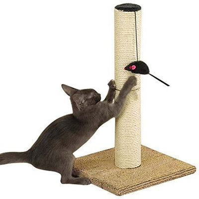 Meow Town Sisal Scratch N' Stow Scratching Cat Post, Natural