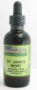 St. John's Wort Alcohol Free No Chinese Ingredients American Supplements 2 oz L