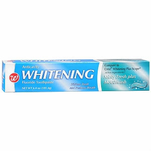 Walgreens Anticavity Whitening Fluoride Toothpaste