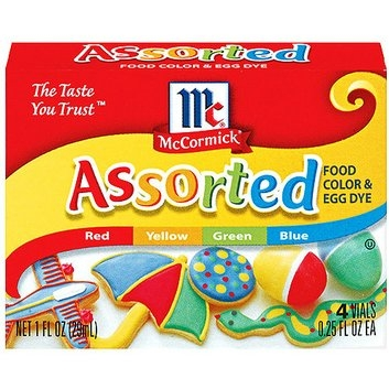 McCormick Specialty Extracts Assorted Food Colors And Egg Dye