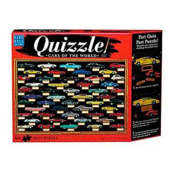 Blue Opal Quizzle Cars of the World Jigsaw Puzzle Ages 12+