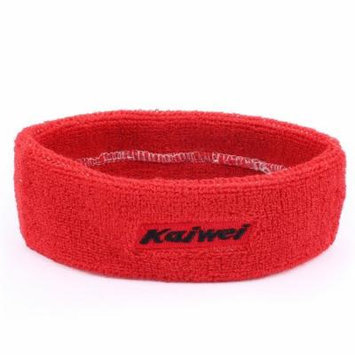 Outdoor Sports Terry Elastic Fabric Tennis Runner Yoga Headband Hair Band Red