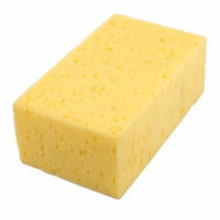 Home Car Cleaning Tool Suction Washing Sponge Pad Block Yellow