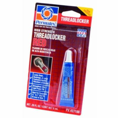 Permatex 27100 High Strength Threadlocker Red, 6 ml, 2 Pack