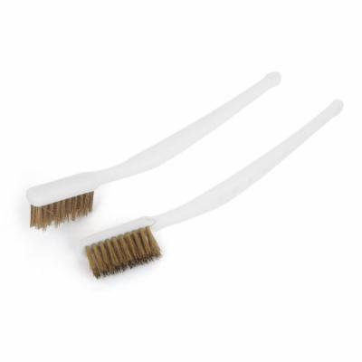 Plastic Handle Brass Wire Cleaning Tooth Brush 2pcs