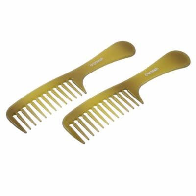 Home Barber Shop Hairstyle Plastic Anti-static Wide Teeth Hair Comb Brush 2pcs