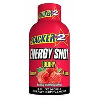 Stacker 2 Energy Shots, Berry, 2 Ounce
