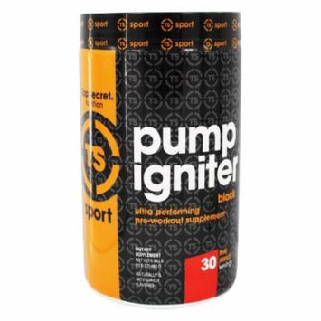 Top Secret Nutrition - Pump Igniter Black Ultra Performing Pre-Workout Supplement Fruit Punch - 15.8 oz.