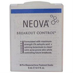 Neova Breakout Control Pre-Measured Acne Treatment Swabs