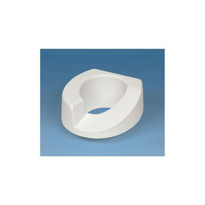 Ableware Sloped Arthro Tall-Ette Elevated Toilet Seat with Slip-In Lok-In-L-Bracket for Standard Toilets