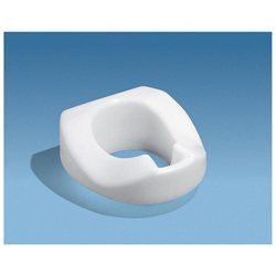 Ableware Tall-Ette Total Hip Replacement Elevated Toilet Seat with Bolt-Down Lock-In-L-Bracket