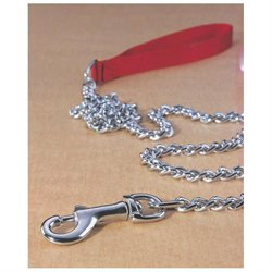 Hamilton Pet Products Fine Steel Chain Lead with Nylon Handle