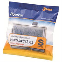 All Glass Aquarium Aqueon Mini Bow Filter Cartridge 3 Pack