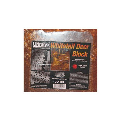 Ultralyx 10441/UL1501 Black Whitetail Deer Block 25 Pound