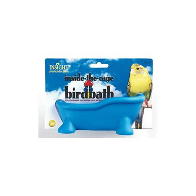 Topdawg Pet Supply Insight Inside the Cage Bird Bath for Pet Birds