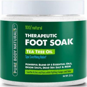 Pure Body Naturals Foot Soak with Tea Tree Oil 20 oz