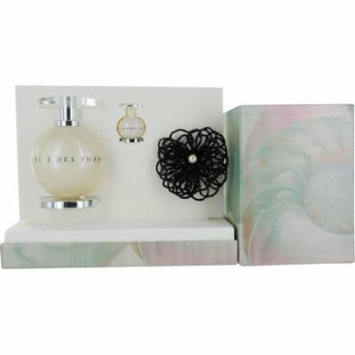 J Del Pozo In White Set-Edt Spray 3.4 Oz & Edt .15 Oz Mini & Brooch By