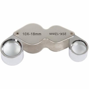 Stalwart 10x and 20x Dual Jeweler's Eye Loupe Magnifier with Case