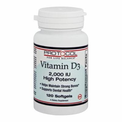 Protocol For Life Balance - Vitamin D3 2000 IU - 120 Softgels