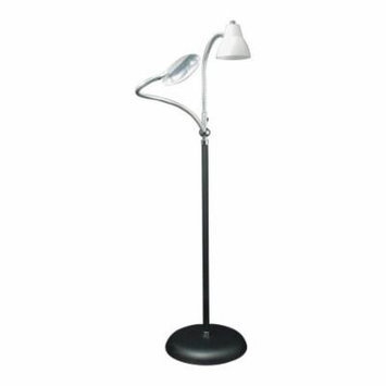2-Arm Combination Floor Lamp and 2x Magnifier