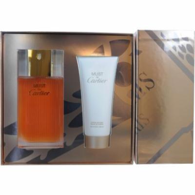 Must De Cartier 236379 Set-EDT Spray 3.3 Oz and Body Cream 3.3 Oz