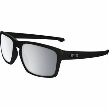 Oakley Sliver Sunglasses Machinist Matte Black W/Chrome Irid One Size