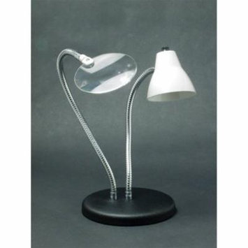 2-Arm Combination Table Lamp and 2x Magnifier