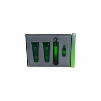 Perry Ellis - Perry Ellis 360 Green - Eau De Toilette Spray 3.4 oz & Aftershave Balm 3 oz & Shower Gel 3 oz & Eau De Toilette Spray .25 oz Mini - mens - EDT