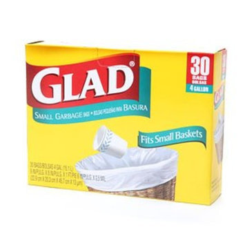 Clorox 00150 Glad 13 Gallon Indoor Small Garbage Bags 30 count - Case of 12