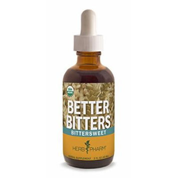 Herb Pharm Better Bitters Certified Organic Digestive Supplement, Bittersweet, 2 Ounce
