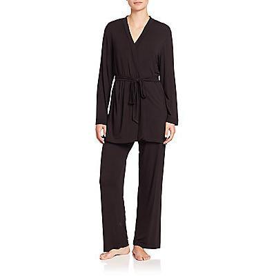 Oscar de la Renta Sleepwear Three-Piece Luxe Pajamas